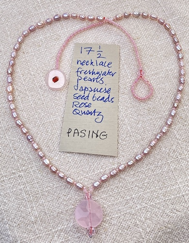 Pasing 17.5in necklace